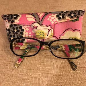 Vera Bradley Eye Glasses w. Matching Case.
